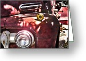 Firetruck Greeting Cards - Still a Little Life Left in Her Limited Edition Greeting Card by Robin Lewis
