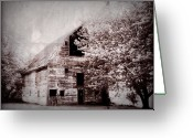 Rural Decay  Digital Art Greeting Cards - Still Here Greeting Card by Julie Hamilton