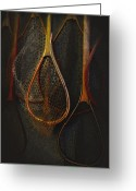 Netting Digital Art Greeting Cards - Still life - fishing nets Greeting Card by Jeff Burgess