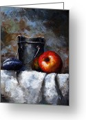 Old Painting Greeting Cards - Still Life 10 Greeting Card by Emerico Toth