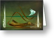 Lacy Abstract Greeting Cards - Still Life Abstract V2 Greeting Card by Anne Lacy