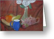 Tea Pastels Greeting Cards - Still Life Greeting Card by Dan Brown