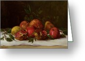 Courbet Greeting Cards - Still Life Greeting Card by Gustave Courbet