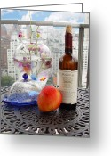 Mango Digital Art Greeting Cards - Still Life on Balcony  Greeting Card by Madeline Ellis