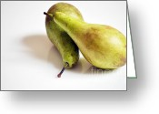 Two Pears Greeting Cards - Still Life Pears Greeting Card by Christina  Kilgour