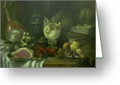 Peach Greeting Cards - Still-life with a lobster Greeting Card by Tigran Ghulyan