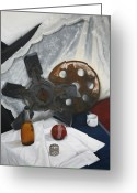 Adam Gabriel Winnie Greeting Cards - Still Life with Cloth Study and Rusty Objects Greeting Card by Adam Winnie