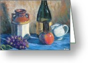 Reflections Pastels Greeting Cards - Still Life with Crock and Apple Greeting Card by Michael Camp