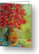 Vase Of Flowers Greeting Cards - Still Life with Flowers Greeting Card by Chris Brandley