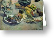 Gauguin; Paul (1848-1903) Greeting Cards - Still Life with Fruit Greeting Card by Paul Gauguin