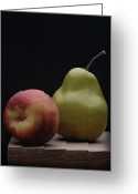 Pear Pyrography Greeting Cards - Still Life with Fruits Greeting Card by Krasimir Tolev