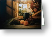 Pitcher Greeting Cards - Still Life with Hopper Greeting Card by Patrick Anthony Pierson
