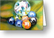 Toys Pastels Greeting Cards - Still Life With Marbles 08 Greeting Card by Sue Gardner