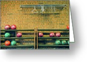Brick Greeting Cards - Still Life With No Glow In Dark Balls Greeting Card by E. Treffly Coyne