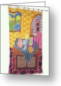 Life Tapestries - Textiles Greeting Cards - Still LIfe With Pear Greeting Card by Rollin Kocsis