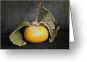Visual Artist Greeting Cards - Still Life With Persimmon Greeting Card by Viktor Savchenko