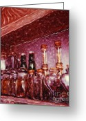 Kitchen Photos Mixed Media Greeting Cards - Still Life with Spice Jars - Polaroid SX-70 Greeting Card by Renata Ratajczyk