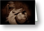 Straw Hat Greeting Cards - Still Life with Wheat II Greeting Card by Tom Mc Nemar