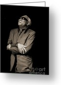 Ray Charles Greeting Cards - Still Standing Greeting Card by Enid Farber