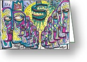 Street Art Drawings Greeting Cards - Still Standing Greeting Card by Robert Wolverton Jr
