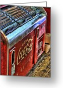 Coke Greeting Cards - Still The Real Thing Greeting Card by Joetta West