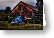 Connecticut Greeting Cards - Still Truckin Greeting Card by Susan Candelario