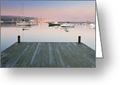Desert Island Greeting Cards - Still Waters - Southwest Harbor Maine Greeting Card by Thomas Schoeller