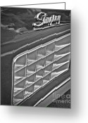 Monochrome Hot Rod Greeting Cards - Stingray Greeting Card by Chalet Roome-Rigdon
