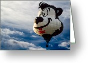 Balloon Festival Greeting Cards - Stinky The Skunk Greeting Card by Bob Orsillo