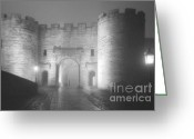 Nightshot Greeting Cards - Stirling Scotland - Now THATs a castle Greeting Card by Christine Till