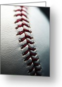 Baseball Photographs Greeting Cards - Stitches II Greeting Card by John Rizzuto