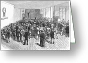 Commission Photo Greeting Cards - Stock Exchange, 1878, Greeting Card by Granger