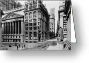 1908 Greeting Cards - STOCK EXCHANGE, c1908 Greeting Card by Granger