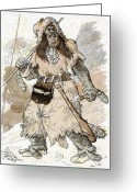 Humans Greeting Cards - Stone Age Man, Early 20th Century Artwork Greeting Card by Cci Archives