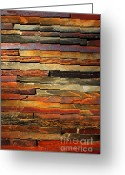 Vertical Abstract Greeting Cards - Stone Blades Greeting Card by Carlos Caetano