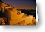 Graves And Tombs Greeting Cards - Stone Blocks Mark The Hillside Greeting Card by Michael Melford