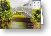 Pamela Meredith Greeting Cards - Stone Bridge at Burrowford UK Greeting Card by Pamela  Meredith