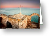 Twilight Greeting Cards - Stone chapel Greeting Card by Evgeni Dinev