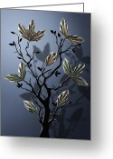 Grow On Trees Greeting Cards - Stone Greeting Card by Chris Turner