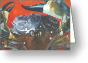 Jon Ferrentino Greeting Cards - Stone Crab  Greeting Card by Jon Ferrentino