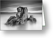 Northern Ireland Greeting Cards - Stone face Greeting Card by Pawel Klarecki