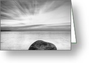 Bulgaria Greeting Cards - Stone in the sea Greeting Card by Evgeni Dinev