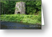 Grafton County Greeting Cards - Stone Iron Furnace - Franconia New Hampshire USA Greeting Card by Erin Paul Donovan