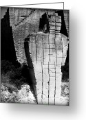 Quite Greeting Cards - Stone Man Greeting Card by Pedro Cardona