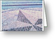 Background Greeting Cards - #stone #mosaic #pavement #background Greeting Card by Cristina Sferra