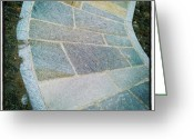 Background Greeting Cards - #stone #pavement #background Greeting Card by Cristina Sferra