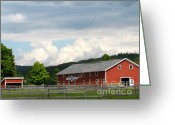 Western Massachusetts Greeting Cards - Stone Pony Farm Greeting Card by Randi Shenkman