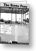 Jersey Shore Greeting Cards - Stone Pony Memorial to the Big Man Greeting Card by John Rizzuto