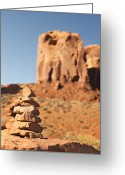 Navajo Greeting Cards - Stone stack. Greeting Card by Jane Rix