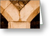 Functional  Greeting Cards - Stone Support Greeting Card by Christi Kraft